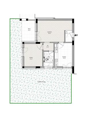Apartament 2 camere cu gradina - Romanescu Park Residence - imagine 8
