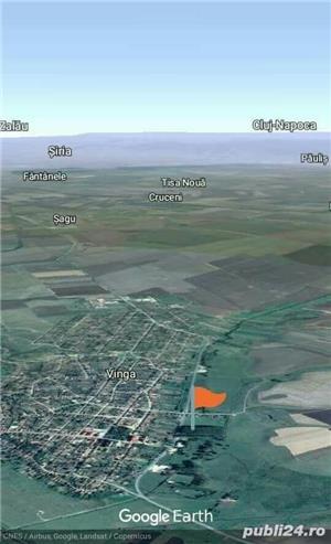 Teren de Vanzare Intravilan 5188 m//p Com Vinga Jud Arad - imagine 1