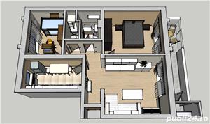 Apartament 3 camere 2 bai mobilat utilat Selimbar - imagine 1