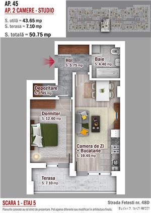 Apartament 2 camere - Metrou 1 Decembrie 1918 - imagine 1
