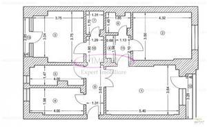 De vanzare apt. 3 camere Piata Victoriei, 2/7, 79 mp, constr. 1992 - imagine 2