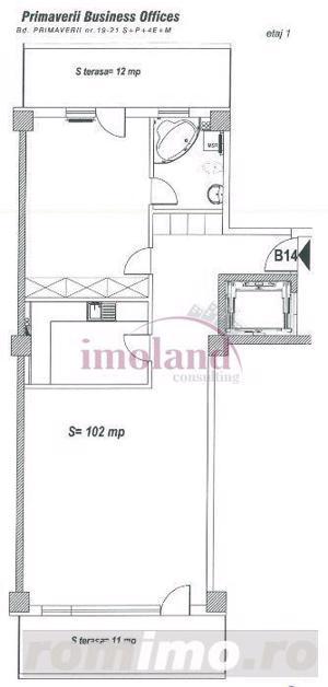 Aparatment - 2 camere - inchiriere - Primaverii - office - imagine 11