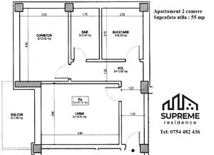 Apartament 2 camere, 55 mp utili, COMISION 0% - imagine 6