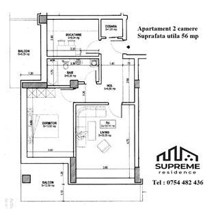 Apartament 2 camere, 56 mp utili, COMISION 0% - imagine 8
