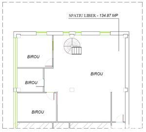 Spatiu birouri de inchiriat 120 m2 - 4,6 eur/m2 - imagine 7