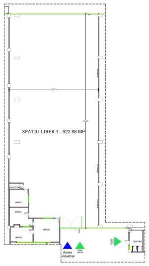 Spatiu industrial de inchiriat 920 m2 - 3,25 Eur/m2 - imagine 5