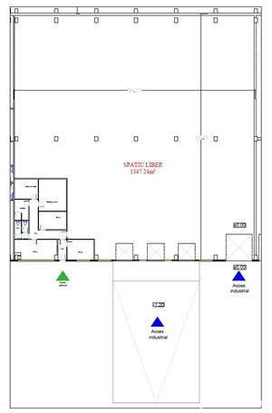 Spatiu industrial de inchiriat 1350 m2 - 3,5 Eur/m2 - imagine 4