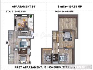 Apartament duplex 198 mp, Metrou Dristor 4 minute, Finalizat - imagine 15