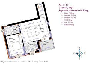 Apartament 3 camere 83 mp utili + balcon, imobil nou - imagine 2