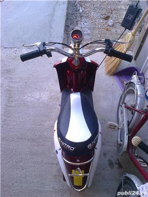 Scuter electric pentru copii, Vespa Roller 350W 24V - imagine 4