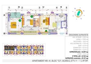 Apartament mare,nou,mutare imediata ,67 mp.   - imagine 2