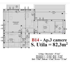 Apartament Penthouse Calea Cisnadiei, Sibiu-Cisnadie - imagine 1