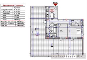 Apartament | Terasa de 118 mp | 3 camere | Zona Turnisor - imagine 2