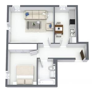 Apartament 2 camere 50,15mp parter in bloc 2019 cu loc de parcare gratuit - imagine 2