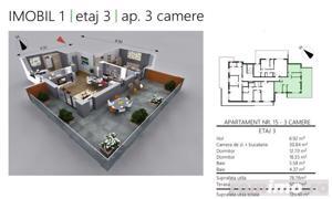 COMISION 0 | 3 camere | 2 băi | terasă | panoramă - imagine 2
