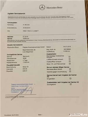 PROPRIETAR VAND MERCEDES-BENZ A 180 D 2014 full-option - imagine 10