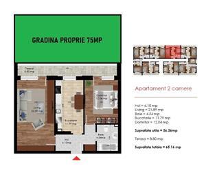 METROU DIMITRIE LEONIDA - Apartament 2 camere 65mp + 75mp gradina - PRIMA CASA - imagine 2