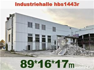 Hală metalică demontabilă 1443m2, P+2, second hand, demontare în Germania - imagine 3
