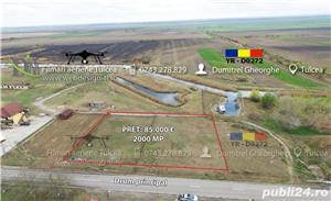 Dunăvățul de jos, 2000 MP, PUZ FĂCUT, PROIECT PENSIUN 13 CAM - imagine 1