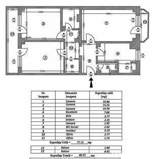 Decebal-Piata Muncii, Apartament 3 camere decomandat - imagine 5