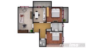 Apartament cu  3 camere | 67.3 mpu | Intabulate - imagine 2