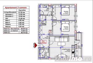 Apartament cu 3 camere   Direct dezvoltator - imagine 3