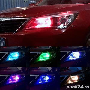 Set 2 Becuri LED RGB Auto Cu Telecomanda - imagine 4