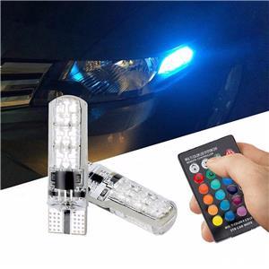 Set 2 Becuri LED RGB Auto Cu Telecomanda - imagine 2