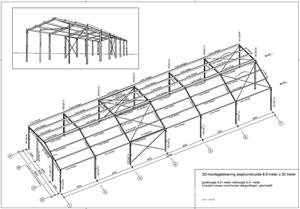 Vand Structura hala metalica 267 mp - imagine 1