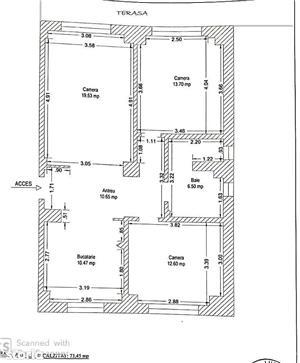 Apartament cu 3 camere, decomandat, etaj 2, 75 mp, Calea Aradului - 88.500 Euro - imagine 8