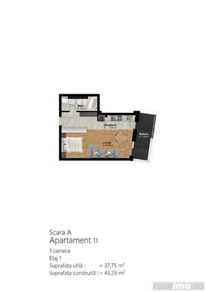 Apartmaent 1 camera, Bloc Nou, Direct Dezvoltator, Sun City Residence - imagine 9