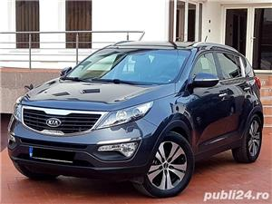 Kia Sportage Automatic Panoramic Keyless Piele Navi LED Pilot 2012 Comenzi Vocale Oglinzi Rabatabile - imagine 1