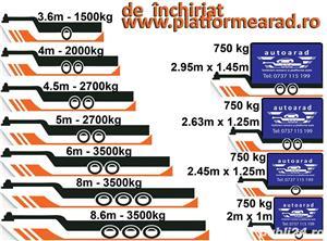 Inchirieri platforme auto pentru dube prelate sau camionete - imagine 2