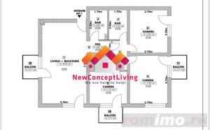 Apartament de vanzare in Sibiu - 4 Camere -Cisnadie - La Cheie - imagine 2