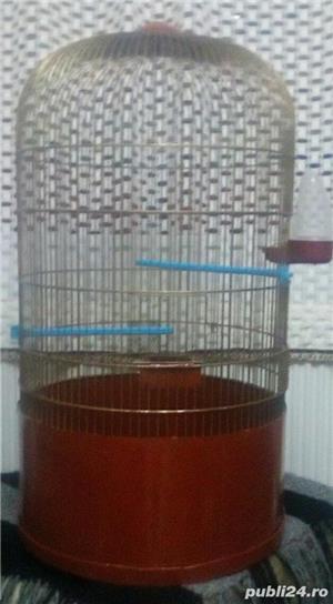 Cușcă (volieră) mare pasarele - imagine 1
