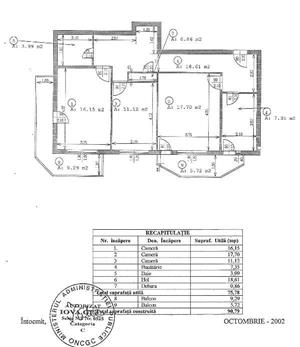 Apartament Titulescu, 3 camere decomandate, supr. totala 91 mp - imagine 2