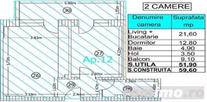 Apartament cu 2 camere - Strada Odaii | Otopeni - Ambasad''Or Home - imagine 4