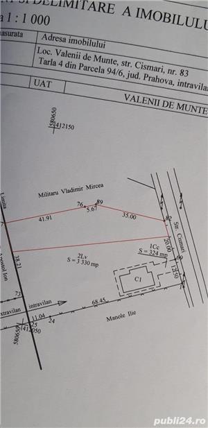Teren intravilan 1804 m in zona linistita Valenii de Munte - imagine 4