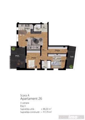 Apartamente 1,2, 3 camere, preturi de la 1000 euro/mp!!! - imagine 8