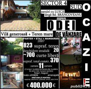 Berceni-Odei, vilă 11 cam, 370mp construit, 823mp teren - imagine 1