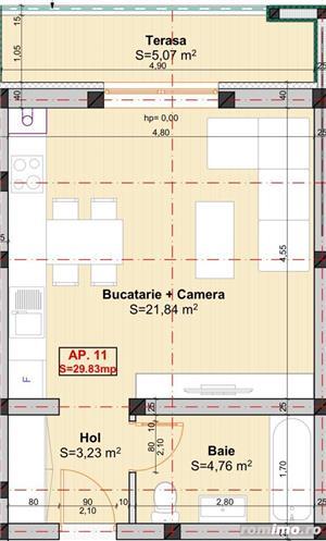 Apartamente cu 1 camera situate intr-un bloc nou, in zona Braytim - imagine 9