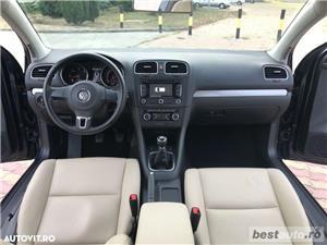 Volkswagen Golf VI // 1.6 TDi 105 CP // Navigatie Mare 3D // Pilot Automat // Piele Bej.  - imagine 2