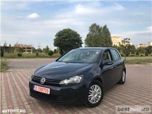 Volkswagen Golf VI // 1.6 TDi 105 CP // Navigatie Mare 3D // Pilot Automat // Piele Bej.  - imagine 1