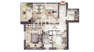 Apartament 2 camere, 59 mp utili, COMISION 0% - imagine 8