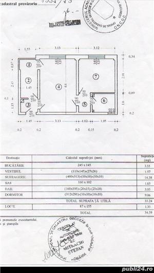 Proprietar vând apartament cu 2 camere  - imagine 7