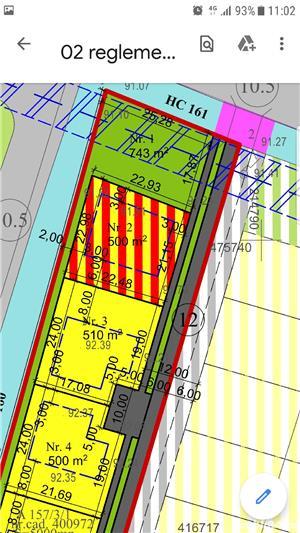 Vand parcela teren mosnita 500 mp front 19m mosnita noua gaz curent apa canal  - imagine 1