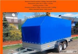 inchiriere remorca 750kg 1500kg 2000kg trailer platforma 1500kg 3500kg slep transport auto remorci - imagine 5