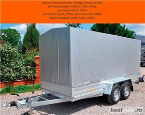 inchiriere remorca 750kg 1500kg 2000kg trailer platforma 1500kg 3500kg slep transport auto remorci - imagine 4