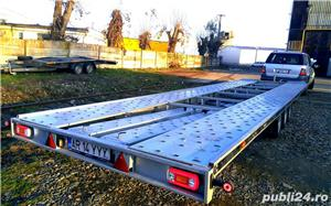 de inchiriat trailer dublu platforma transport doua auto remorci cu prelata auto moto atv - imagine 9