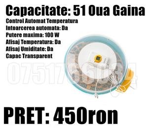 Incubator Oua Automat Clocitoare Oua Intoarcere Automata Gaina Gasca Prepelita Temperatura Umiditate - imagine 2
